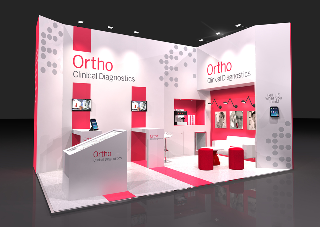 Custom Exhibition Stand Near Me : Ortho clinical diagnostics various shows marc zandy